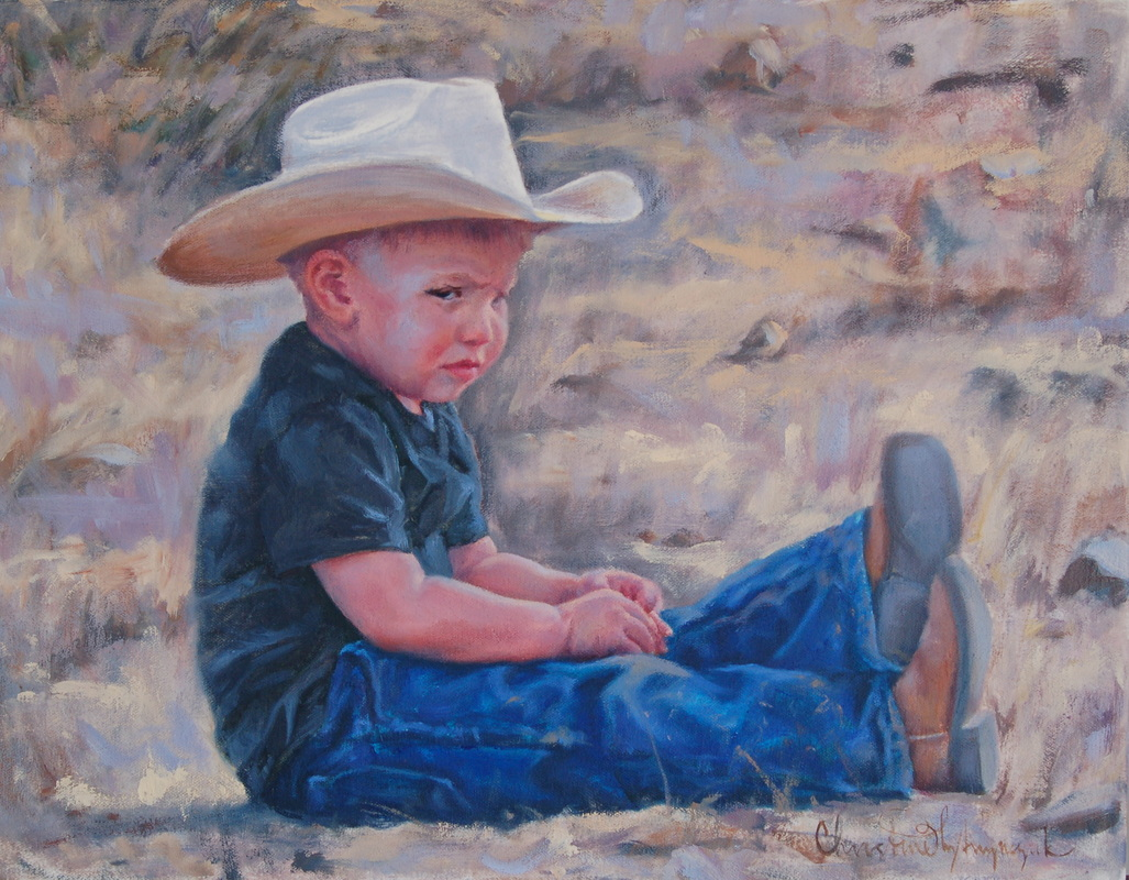 Little cowboy painting
