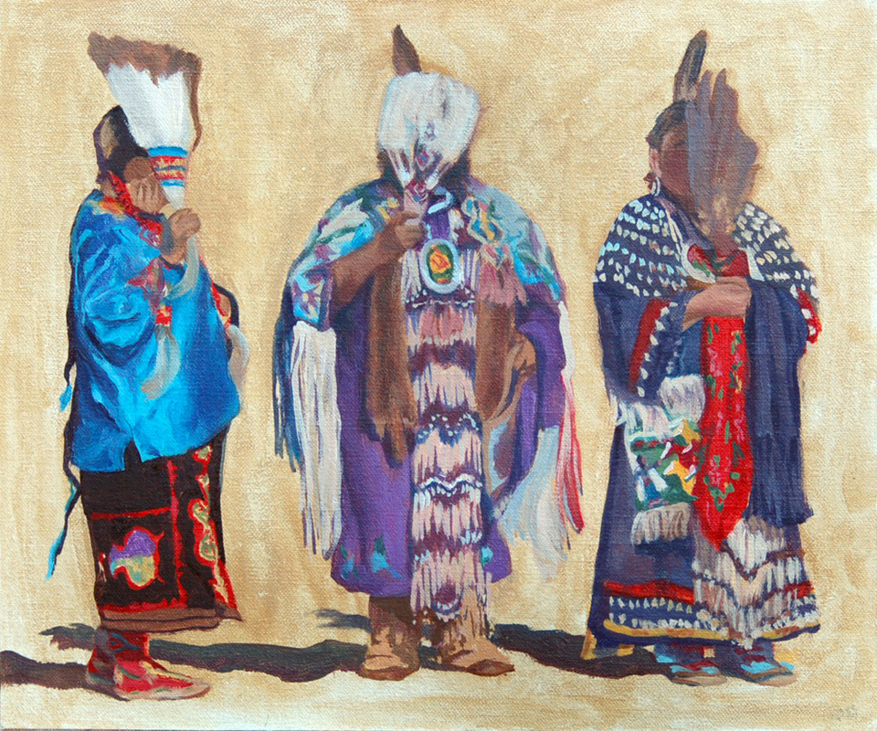 Painting of Native american women