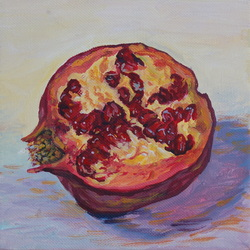 Painting of a pomegranate