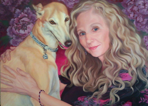 Portrait commission with dog
